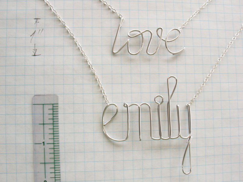 Fine name necklace bracelet choker wire jewelry necklace with personalized and custom created necklace in argentium sterling silver greentooth Choice Image