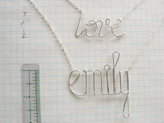 Personalized and custom created necklace in argentium sterling silver