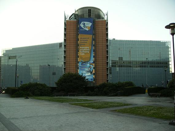 Palacio Berlaymont, sede principal de la Comisión Europea, en el barrio europeo de Bruselas (Bélgica)