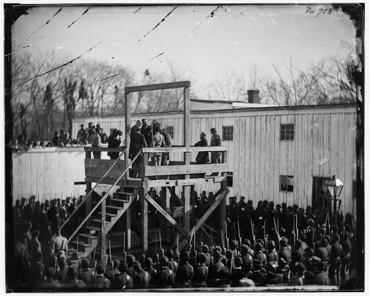 November 10th 1865 Wirz hanged in Washington D.C.