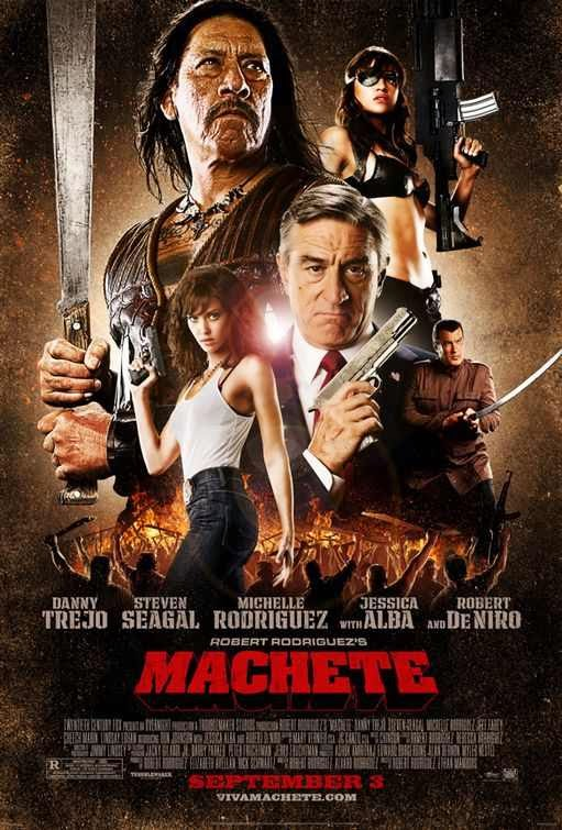 Poster Of Machete (2010) Full Movie Hindi Dubbed Free Download Watch Online At Alldownloads4u.Com