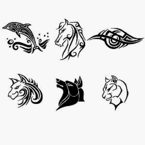 Simple tattoos collection Vector  Free Download