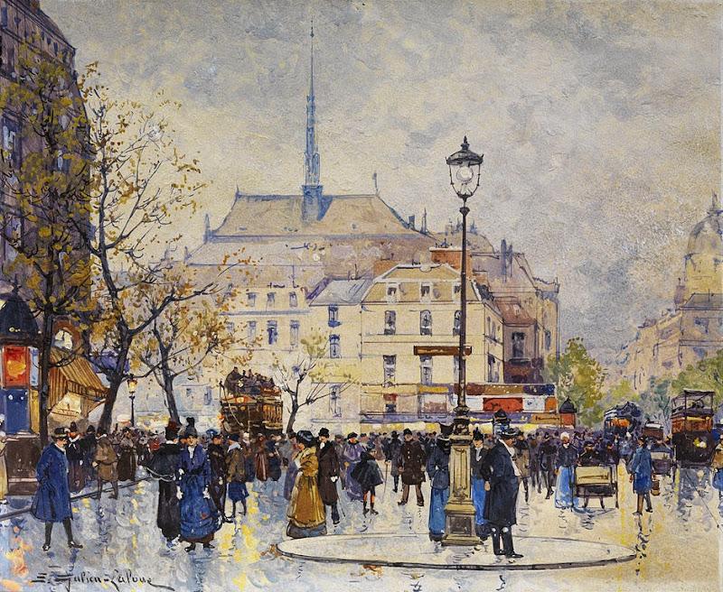 Eugène Galien-Laloue - Street Scene
