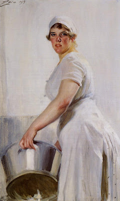 Anders Zorn - Kitchen Maid
