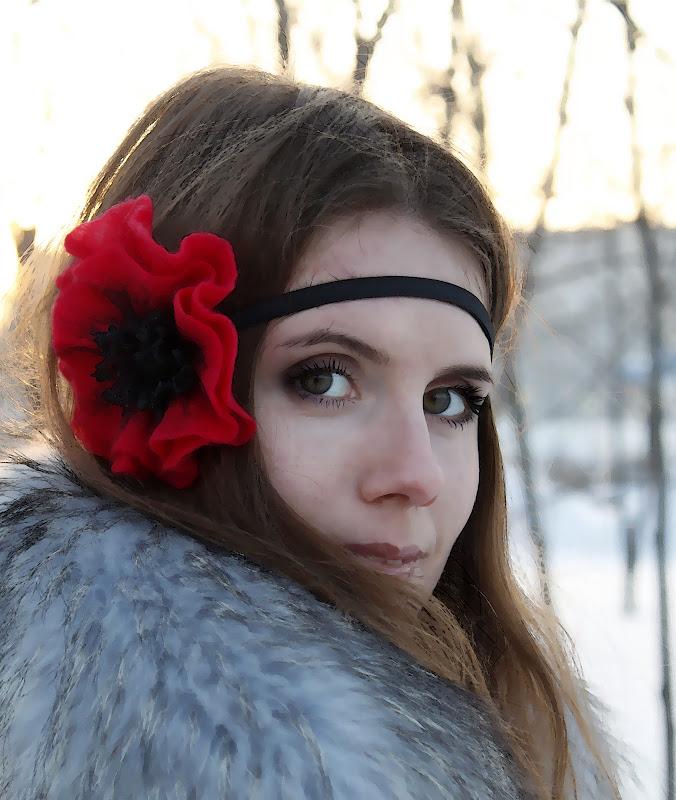 Повязка для волос в стиле Boho. Валяние из шерсти. Автор: Елена Потапова