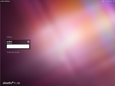 LightDM ubuntu 11.10 oneiric screenshot