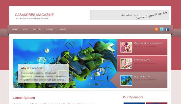Casandres Magazine Blogger Template