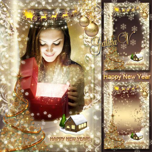Праздничная рамка - Счастливый Новый год