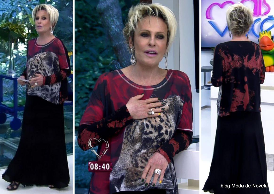 moda do programa Mais Você - look da Ana Maria Braga dia 5 de junho