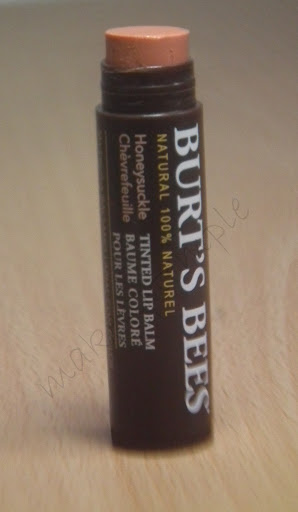 Burt's Bees Honey Suckle Tinted Lip Balm Review