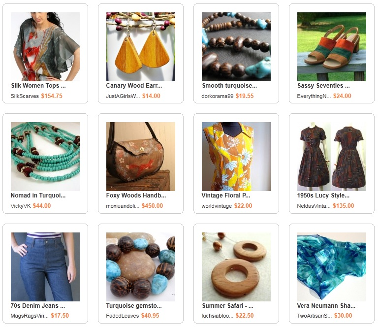 Wooden Jewelry and Earthy Spring Fashions