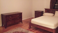 Bed, Nightstand and Dresser