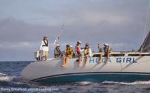 J/World Sailing School's HULA GIRL sailing to Hawaii