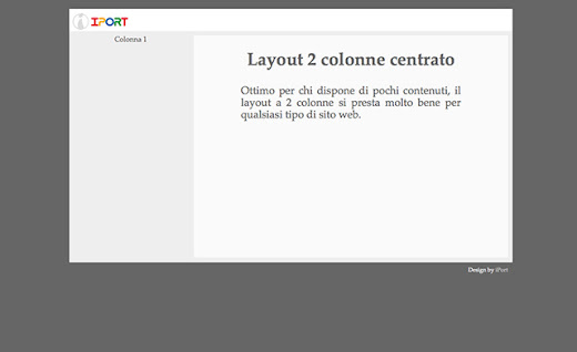 Layout CSS 2 Colonne Centrato