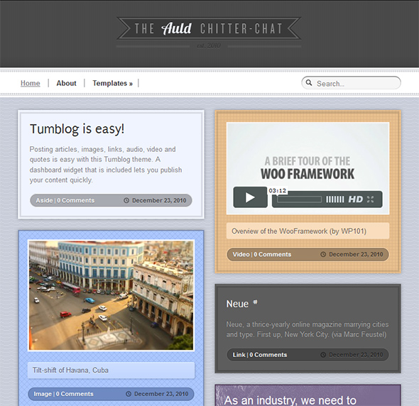 Auld WordPress Theme for Microblogging
