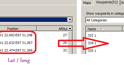 MAP: Converting Lat / Long to UTM in MapSource I want to
