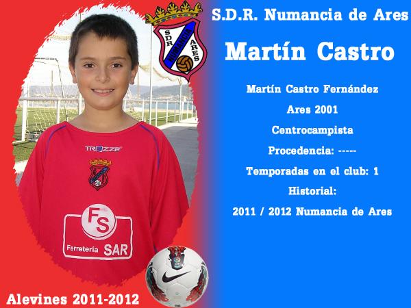 ADR Numancia de Ares. Alevíns 2011-2012. MARTIN CASTRO.