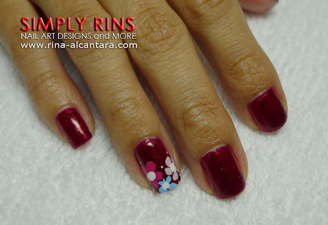 red nail art design 03