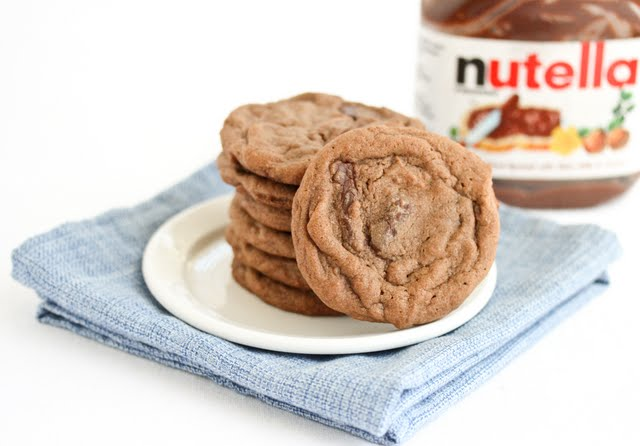 Double Nutella Chunk Cookies