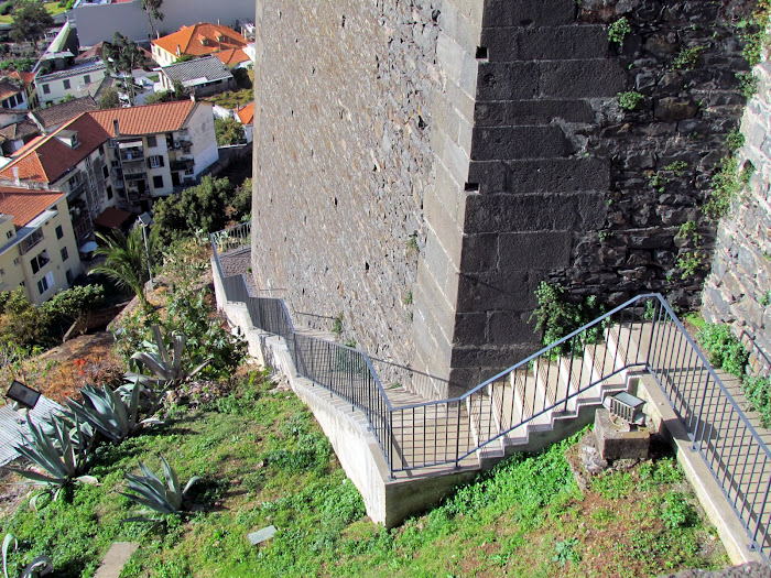 new stairs in Fortaleza do Pico