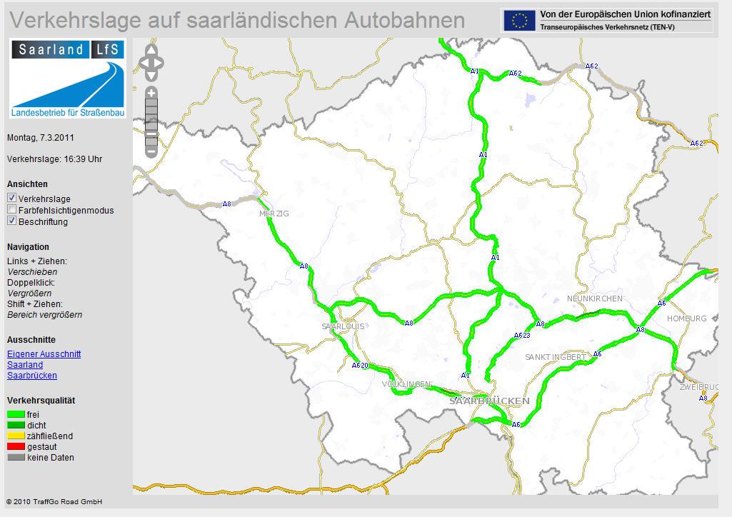 Verkehrslage Rhein Main