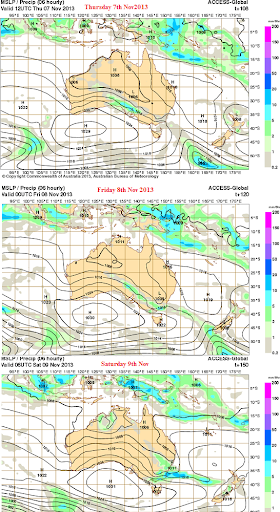 7th-9thnov rain  event Australia