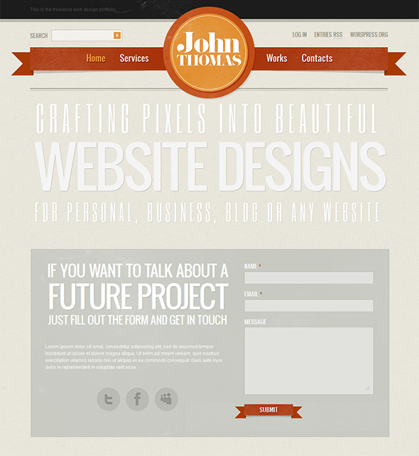 John Thomas Vintage WordPress Theme