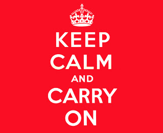 Poster: Keep Calm en Carry on