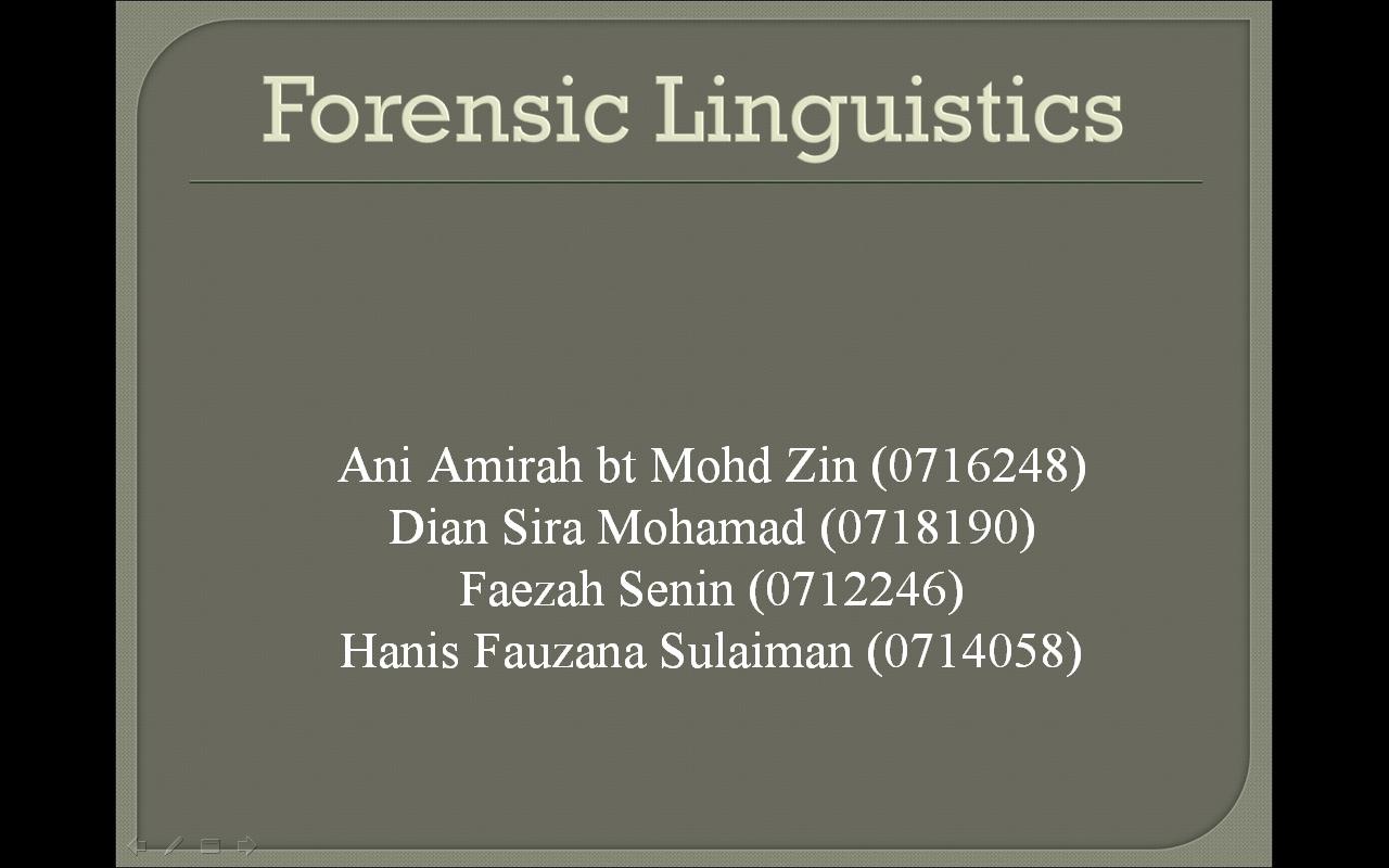 forensic linguistics assignment Forensic linguistics assignment forensic phonetics elu09d forensic linguistics movie alex taylor loading unsubscribe from alex taylor.