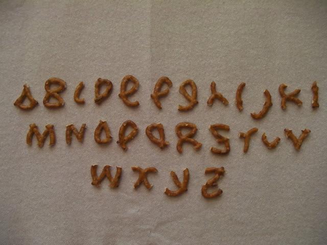 Pretzel Alphabet