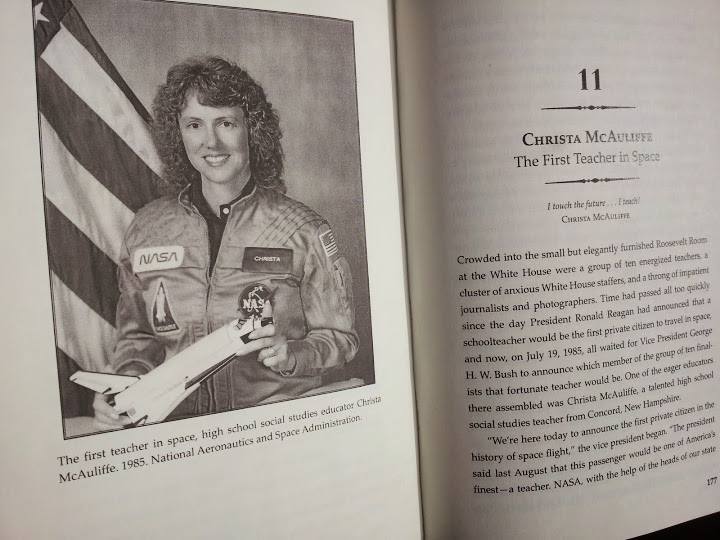Christa McAuliffe. From Chalkboard Heroes