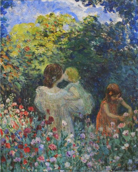 Henri Lebasque - In the Flowers
