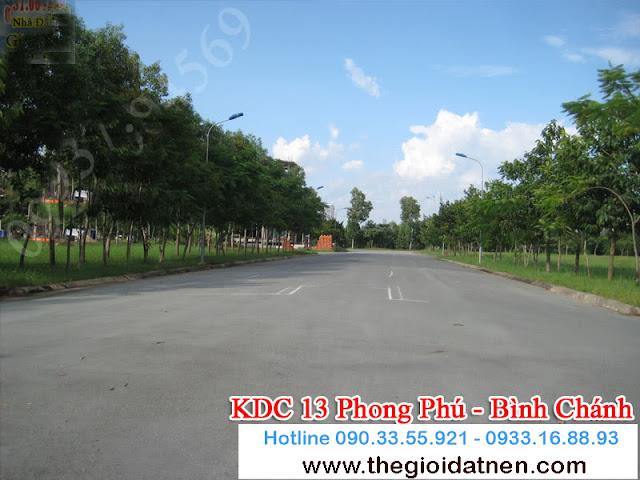 KDC 13   04 Bán gấp đất nền nhà phố KDC 13C, Bình Chánh giá 14.5 tr/m2