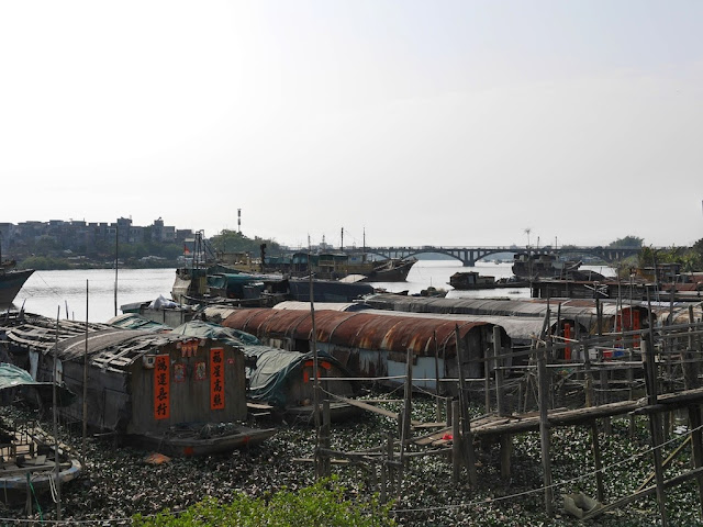 boat homes in Yangjiang