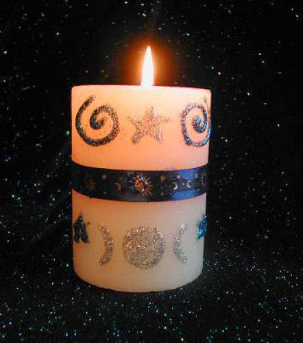 Wicca And Witchcraft On A Budget Decorate A Moon Candle