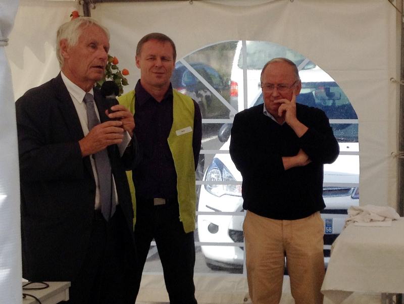 Inauguration des travaux d'extension de la Callune le 23 septembre 2016 à Pontivy