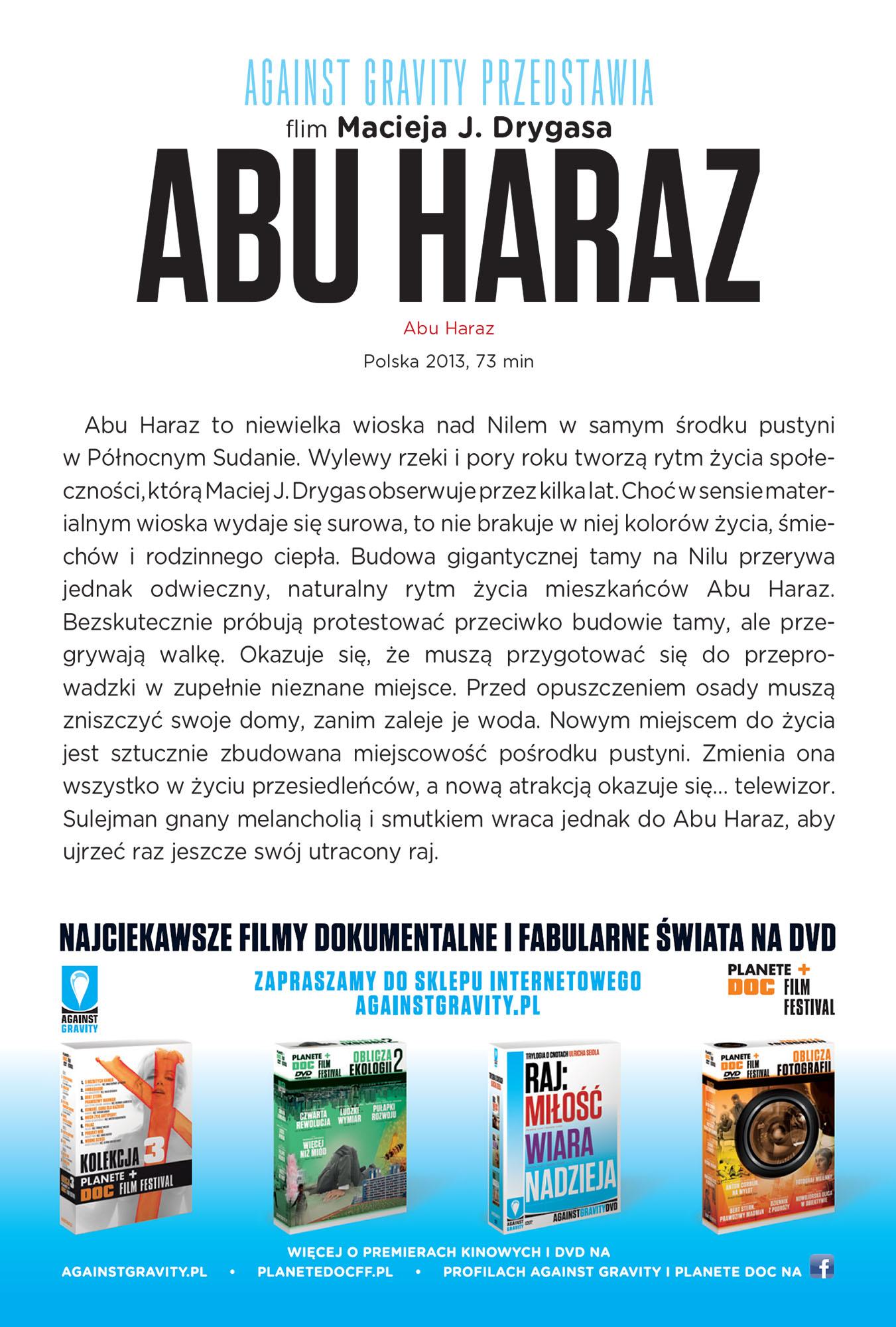 Ulotka filmu 'Abu Haraz (tył)'