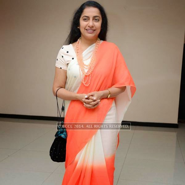 Suhasini during a filmi event, held in Hyderabad.