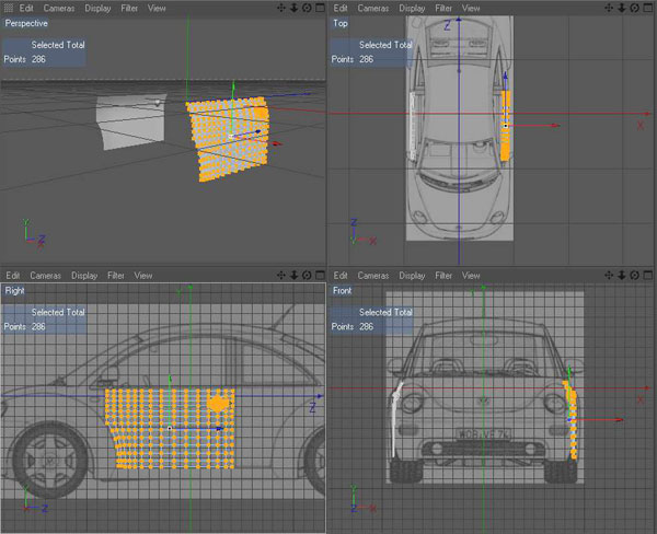 all tutorials modeling a car using blueprints
