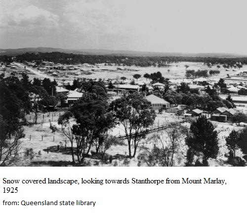 snow stanthorpe 1925