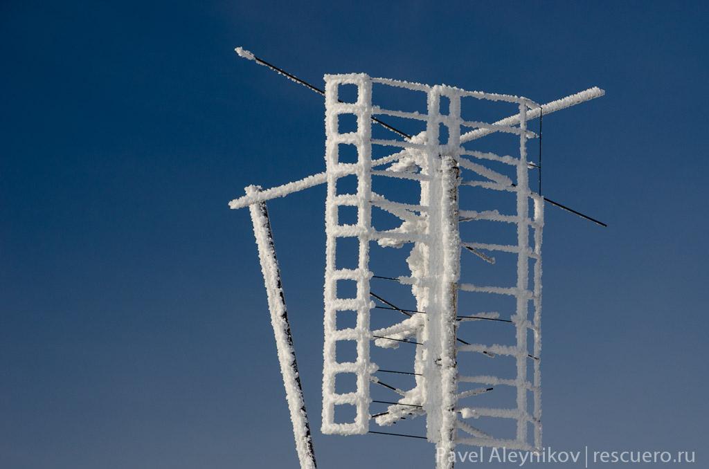 Антенна в снегу