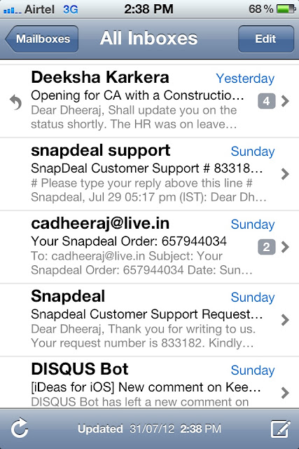 Make Auto group in iPhone Mail