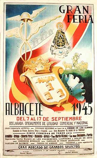 Cartel Feria Albacete 1945