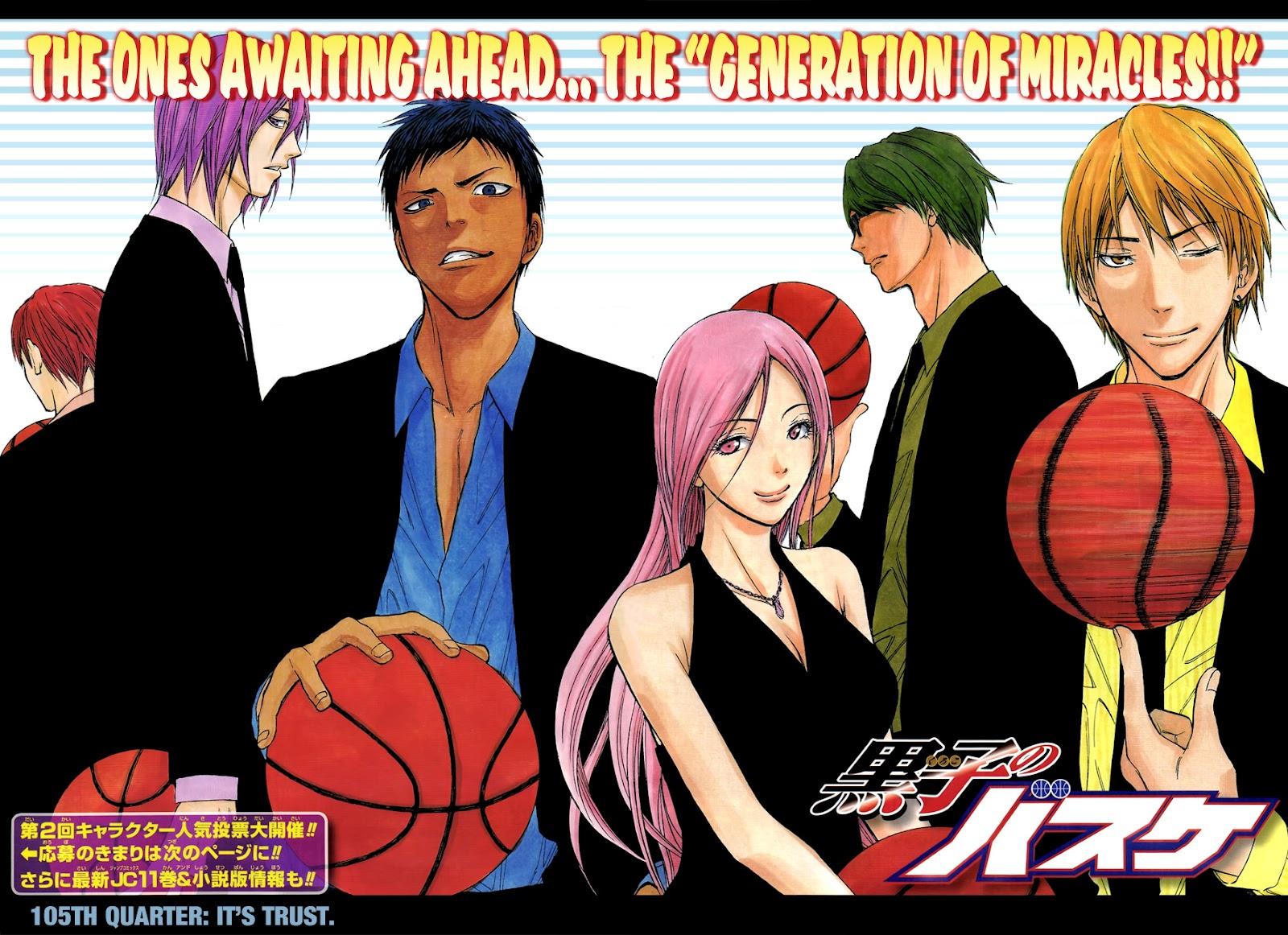 Kuroko no Basket Manga Chapter 105 - Image 02-03