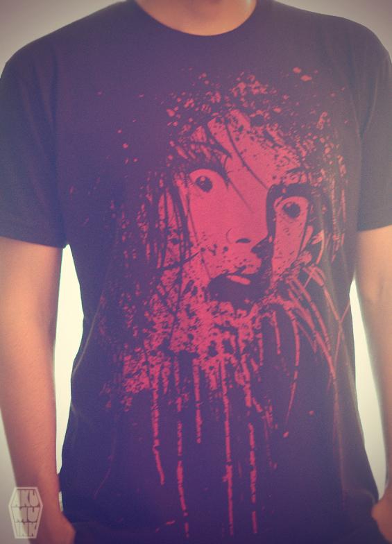 horror shirt, akumu shirt, artist alley shirt, comic con shirt, anime con tshirt, anime goth shirt, halloween tshirt, blood scream tshirt, anime horror, scary shirt, blood art, blood shirt