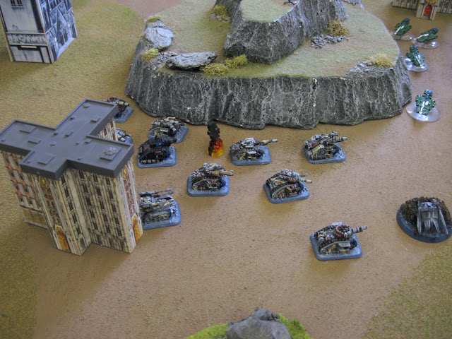 Craig's Commissar tanks relentlessly drives the Armored Company onward.