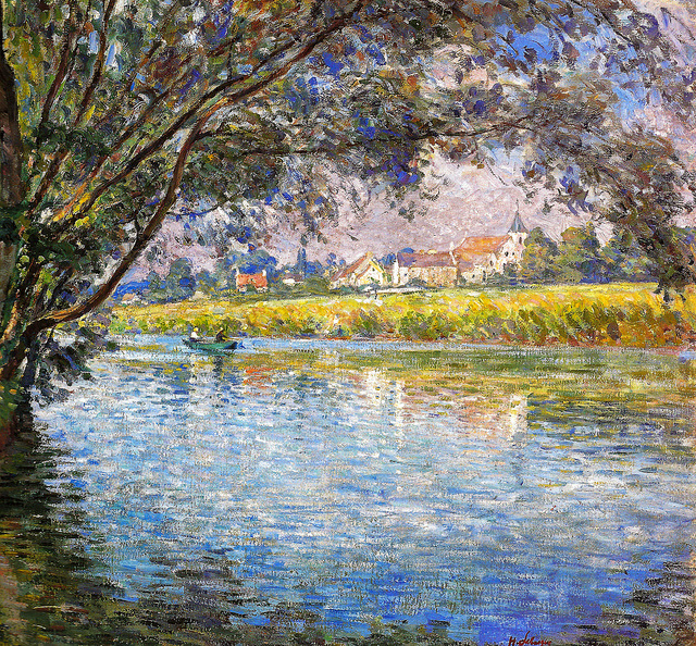 Henri Lebasque - Banks of the River Marne near Montevrain, 1900