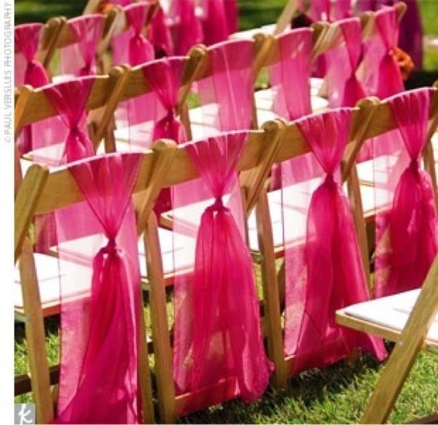 Ruby Rain Wedding Decor & Flowers Blog Chair tie back