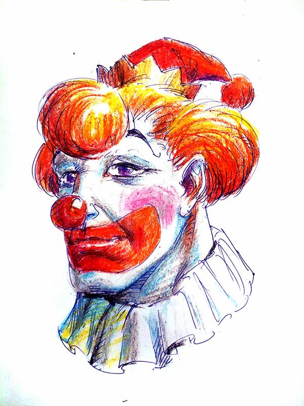clown pastel coloring tutorial