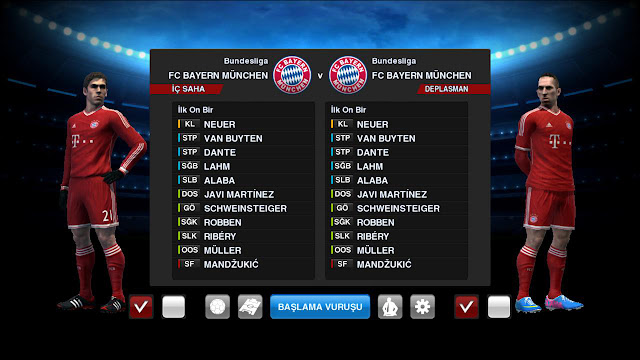 Bayern de Munique 2013-14 Home Kit - PES 2013